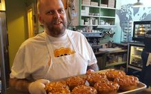 New Zealander Neil Smith, Chief Pie Maker at the Proper Pie Company in Richmond, Virginia, USA.