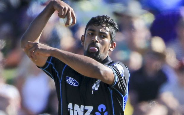 The Black Caps leg spinner Ish Sodhi.
