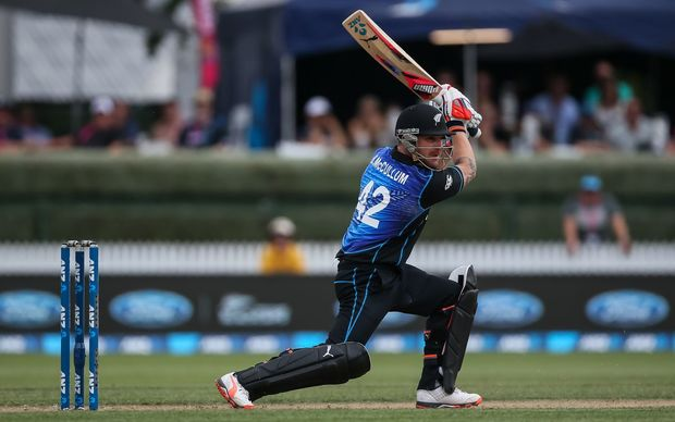 Brendon McCullum batting during his final ODI match against Australia at Seddon Park, Chappell-Hadlee Trophy and ANZ ODI Cricket Series, Hamilton. Monday 8 February 2016. Copyright Photo: Bruce Lim / www.photosport.nz