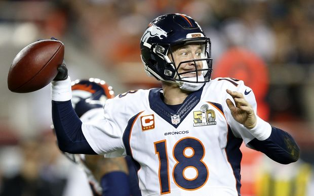 Peyton Manning in what could be his NFL swansong in Super Bowl 50