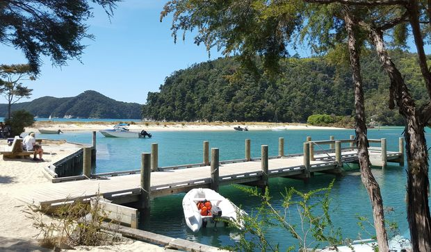 Torrent Bay lagoon in Abel Tasman National Park.