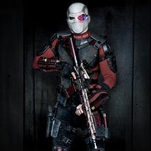 Will Smith as Deadshot in a costume designed by Kate Hawley for David Ayer's Suicide Squad