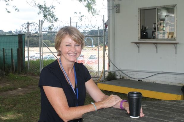 Assistant Director at Auckland Prison Julia Prescott, outside prison coffee shop