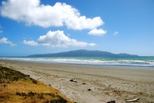 Kapiti Island, as seen from Waikanae Beach - north of Wellington