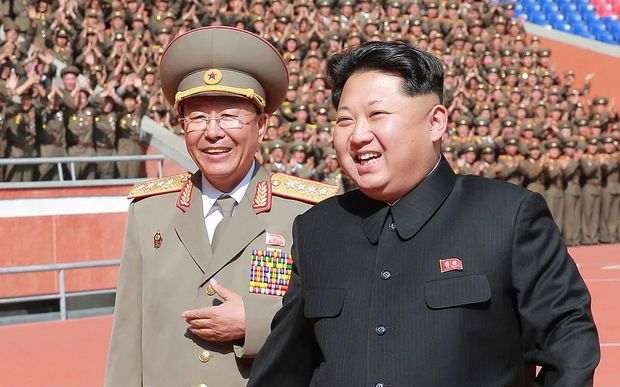North Korean general Ri Yong-gil with Kim Jong-Un in 2015