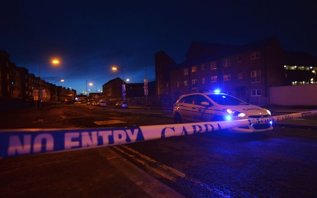 The police cordon around the scene of a fatal shooting at a residential address in Dublin earlier this week.