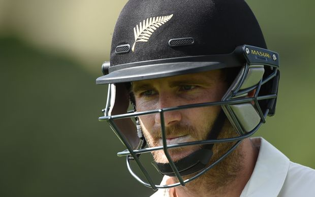 Kane Williamson leaves the field dejected after being dismissed in Wellington