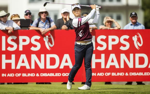 Lydia Ko at the 2016 New Zealand Women's Open at the Clearwater Golf Club in Christchurch.