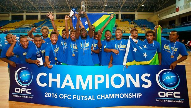 The Solomon Islands are crowned 2016 OFC Futsal champions.