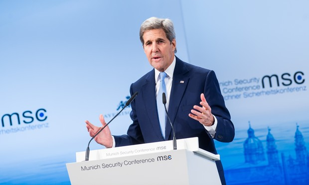 US Secretary of State John Kerry speaks during the 2016 Munich Security Conference.