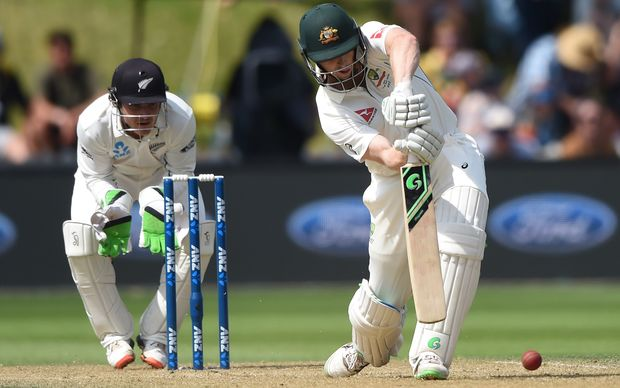Australia batsman Adam Voges on the drive during his innings of 239 against New Zealand at the Basin Reserve.