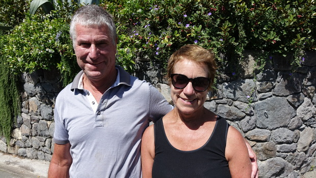 Sue McGregor and Paul Robertson who also live close to the cliffs that collapsed.