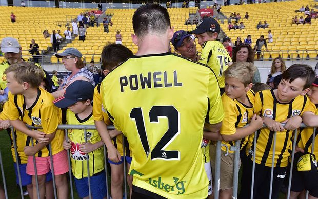 Blake Powell fired in four goals for the Wellington Phoenix.