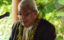 Chief Justice Patu Falefatu Sapolu speaking at the launch of the Alcohol and Drugs court in Samoa.