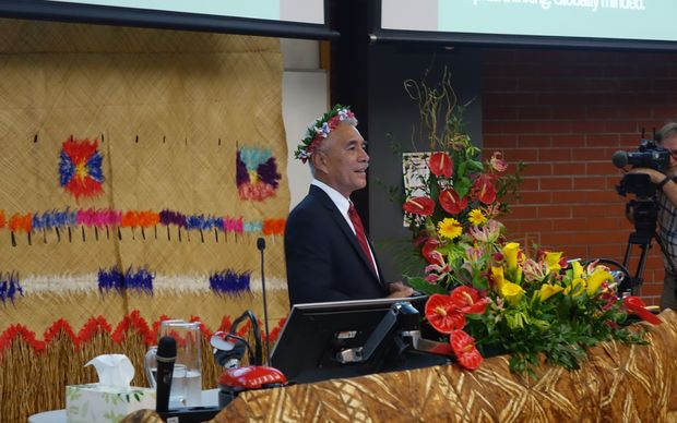 "Anote Tong speaking at the ""In the Eye of the Storm"" Pacific Climate Change Conference."