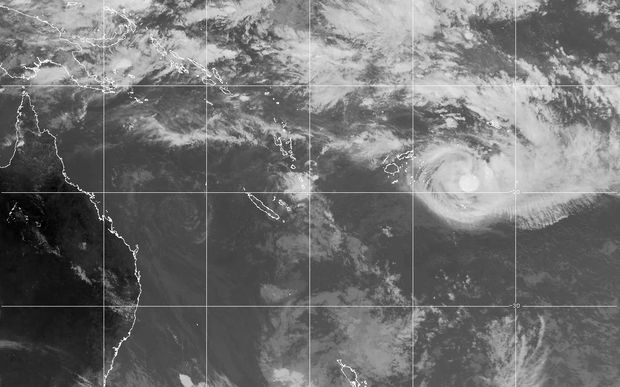 A satellite image taken on Tuesday showing cyclone Winston above Tonga.
