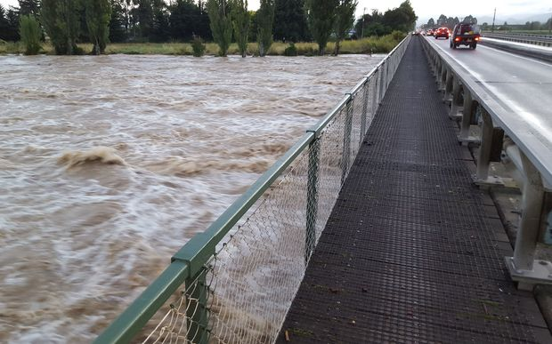 The Wairoa River reached 20-year flood levels overnight.