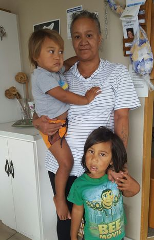 Luciana Manuel with two of her grandsons.