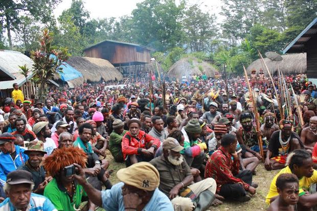 Thousands attended the opening of the United Liberation Movement for West Papua's new office in Wamena.