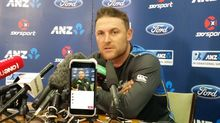 Brendon McCullum at his final pre-match press conference for the Black Caps.