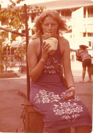 Yvonne van Dongen on her travels in the late 1970s