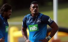 Jerome Kaino at his Blues' Super Rugby pre-season game against the Chiefs at Pukekohe, Friday 19th February 2016. Copyright Photo: Shane Wenzlick / www.photosport.nz