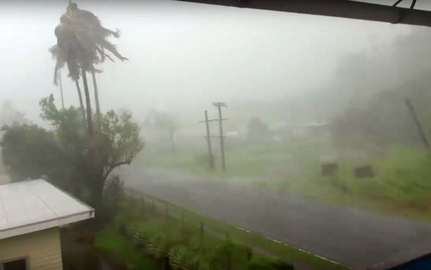 Tropical cyclone Winston hits Taveuni
