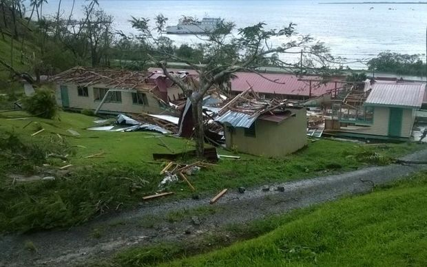Destruction in the Tailevu province, in Viti Levu, Fiji's largest island, following Cyclone Winston.