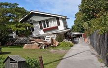A house in Avonside that was damaged after the February quake.