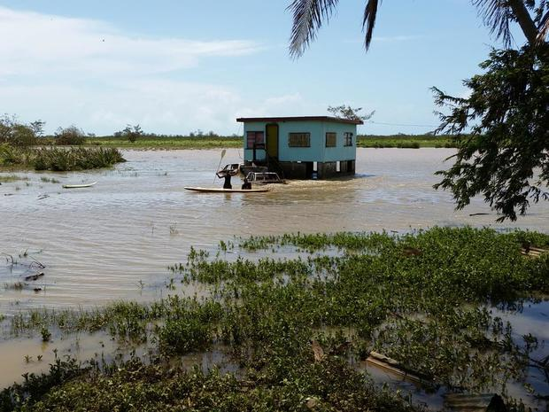 The settlement of Lovu, near Lautoka, is still without power or water following Cyclone Winston.
