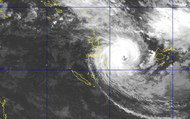 Cyclone Winston near Vanuatu. The cyclone is expected to veer south, but a cyclone advisory has been issued for Tafea.