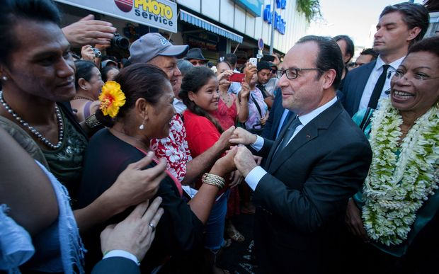 Francois Hollande visits French Polynesia