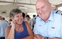 Sergeant Karl Parfitt of the Nelson Police, and his wife Marg Parfitt at the police awards ceremony in Nelson.