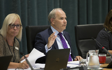Mayor Len Brown at the Auckland Council debate over its proposals for zoning and density housing in the city.