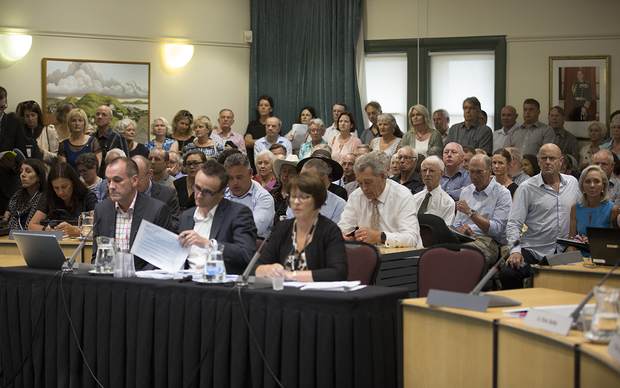 It was standing room only for the extraordinary Auckland council meeting.