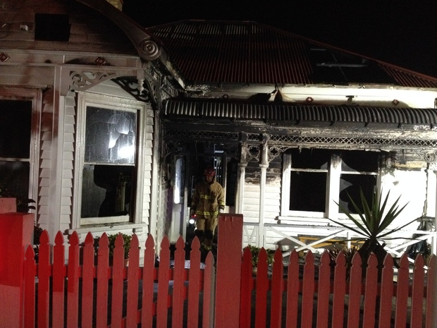 A firefighter was injured in the Grey Lynn blaze.