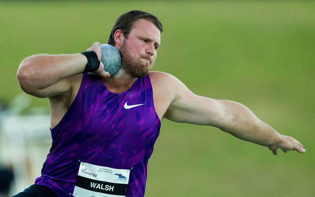 Shot putter Tom Walsh in action Auckland 2016