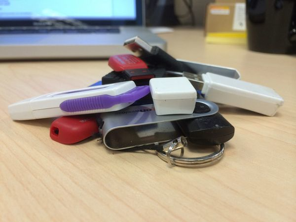 Stack of USB Thumb Drives