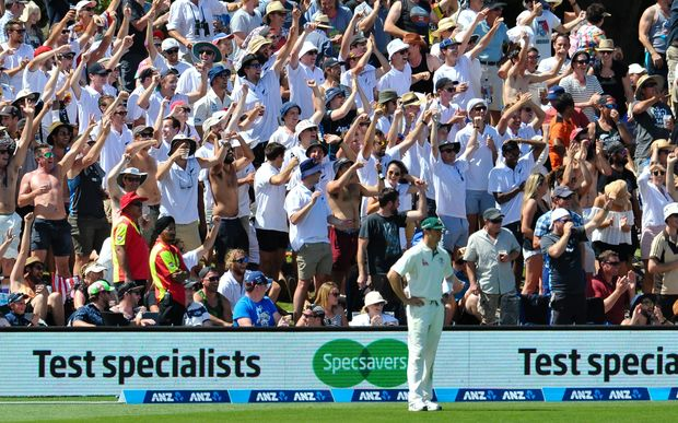 Did New Zealand cricket fans go too far in their taunting of the Australian cricketers?