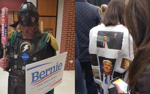 Bernie Sanders and Donald Trump both have committed supporters.