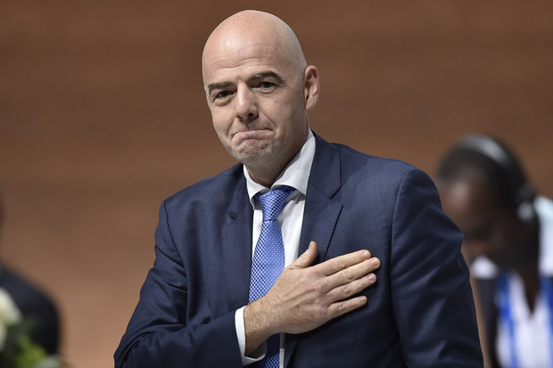 New FIFA president Gianni Infantino reacts after winning the presidential election during the extraordinary FIFA Congress in Zurich on 26 February 2016.