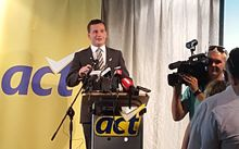 David Seymour at the 2016 ACT conference