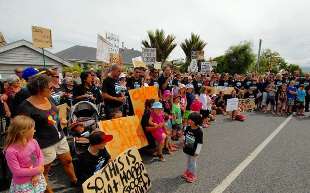 Hundreds turned out to protest the plan to change policing on the West Coast.