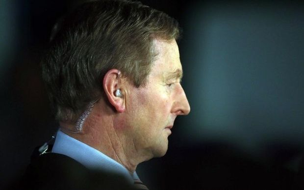 Irish Prime Minister Enda Kenny admits defeat in the general election.