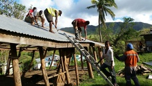 Rebulding in Fiji after Cyclone Winston.