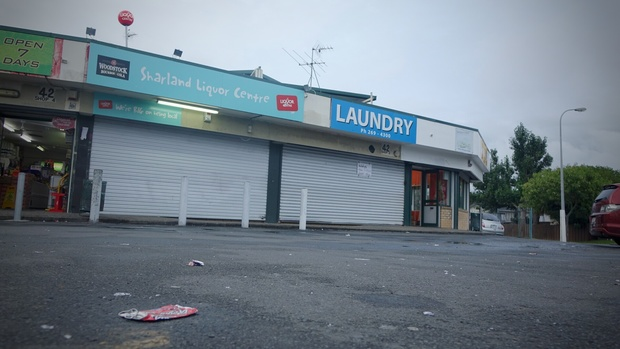 The owner of this Manurewa liquor store was stabbed.