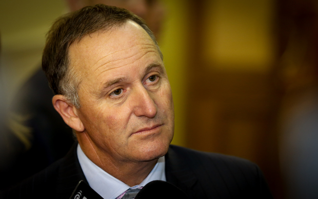 John Key during caucus run 1.03.16