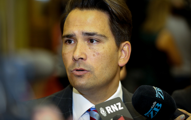 Simon Bridges during caucus run 1.03.16
