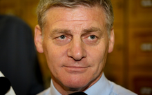 Bill English during caucus run 1.03.16
