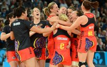 Magic win the Grand final against Melbourne Vixens in Melbourne. 2012 ANZ Netball Championship.